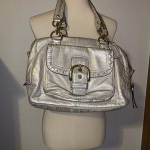 Vintage metallic gold Coach Leather purse